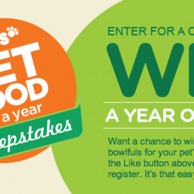 IAMS: Pet Food For A Year Sweepstakes