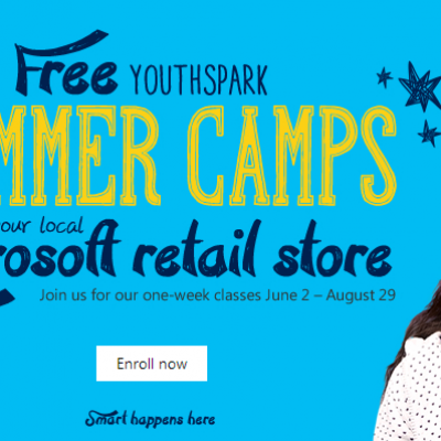 Microsoft: Free Youth Spark Summer Camps - One Week Left