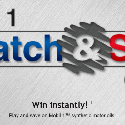 Mobil 1 Scratch & Save Instant Win Game