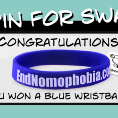 Spin For Swag: Free End Nomophobia Wristband