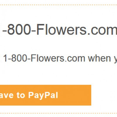 $15.00 Off @ 1-800-Flowers.com W/ Paypal
