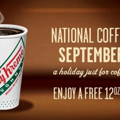 Krispy Kreme: National Coffee Break Day = Free 12oz Coffee or $1.00 12oz Specialty Drink - 9/29