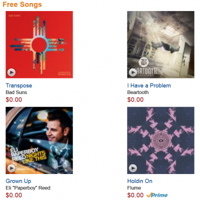 Free Amazon Artists To Watch MP3's