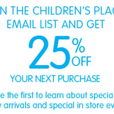 The Children's Place: 25% Off Your Next Purchase