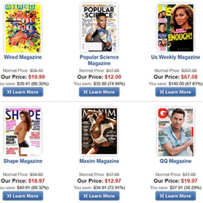 50% Off Best-Selling Magazines
