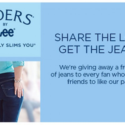 Free Lee Jeans When You Share With 10 Friends