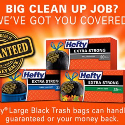 Hefty Large Black Trash Bags Coupon