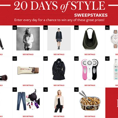 InStyle: 20 Days Of Style Sweepstakes
