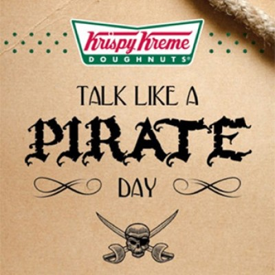 Krispy Kreme Talk Like A Pirate Day: Free Doughnut or Dozen on Sept. 19th