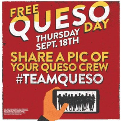 Free Queso Day at Moe's Southwest Grill