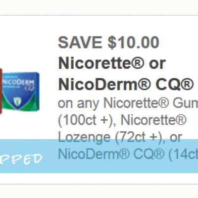 Nicorette or NicoDerm CQ Coupon