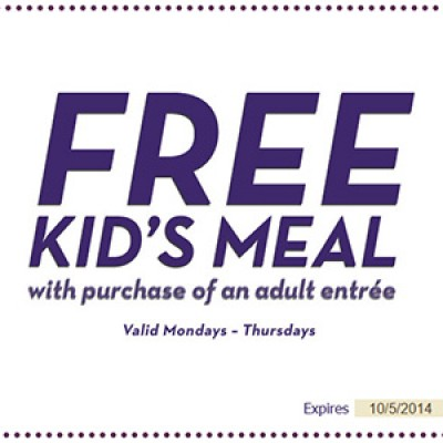 Olive Garden: Free Kid's Meal W/ Adult Entree Purchase