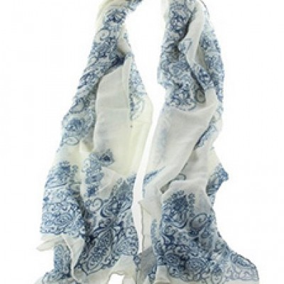 Porcelain Pattern Scarf Only $2.59 + Free Shipping