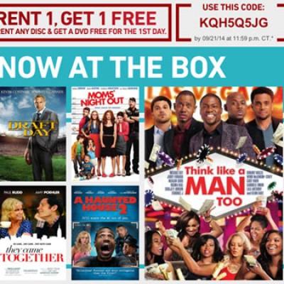 Redbox: Rent 1 Get 1 Free - Expires Tonight 9/21