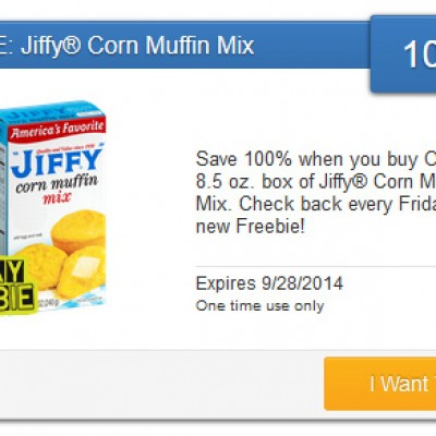 SavingStar Freebie Friday: Free Jiffy Muffin Mix