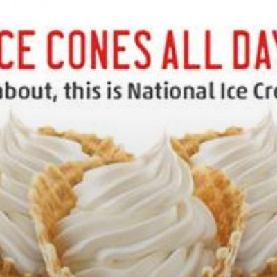 Sonic: Half Priced Cones Sept. 22nd