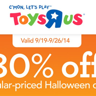 Halloween Costumes 30% Off at Toys R Us