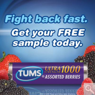 Costco Members: Free Tums Ultra Strength Samples