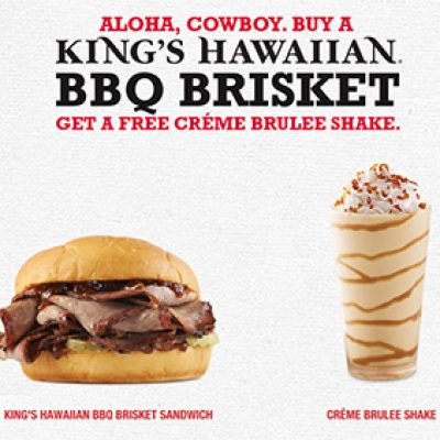 Arby's: Free Creme Brulee Shake W/ Purchase