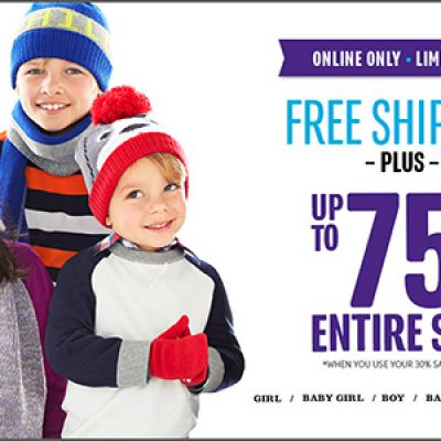 The Children's Place: Free Shipping + Up To 75% Off Entire Site