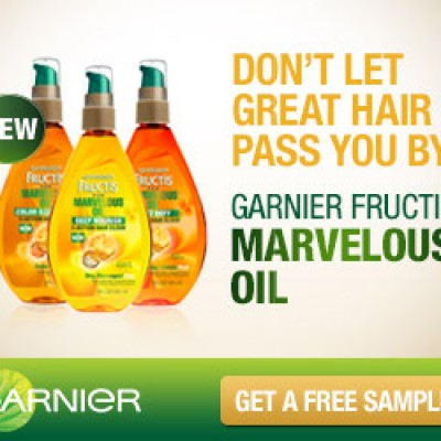 Free Garnier Marvelous Oil Samples