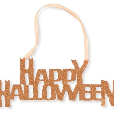 Happy Halloween Hanging Glitter Sign Just $7.89 + Free Shipping