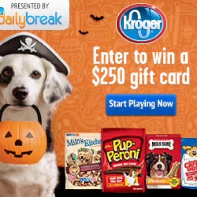 Trick or Treat 'Em: Win a $250 Gift Card + Milk-Bone Coupon