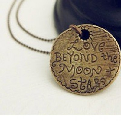 Love Beyond the Moon & Stars Pendant Just $3.24 + Free Shipping