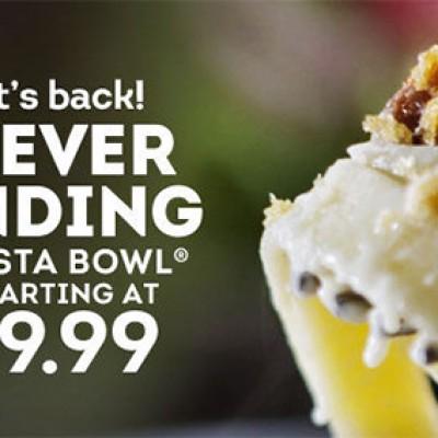 Never Ending Pasta Bowl Only $9.99 @ Olive Garden