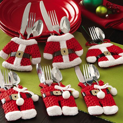 Santa Suit XMas Silverware Holders Only $9.99 + Free Shipping