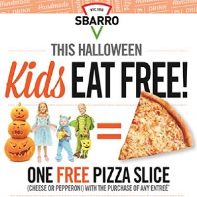 Sbarro Halloween: Kid's Eat Free W/ Entree Purchase