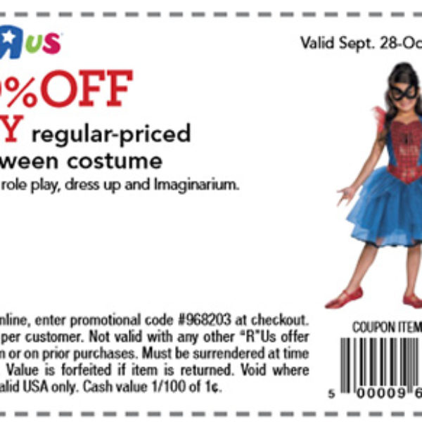 Toys R Us: 20% Off Halloween Costume Coupon - Expires Oct 4th