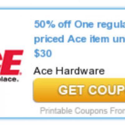 Ace Hardware: 50% Off One Item Under $30
