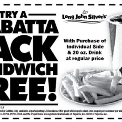 Long John Silvers: Free Ciabatta Jack Sandwich W/ Purchase of Side & Drink