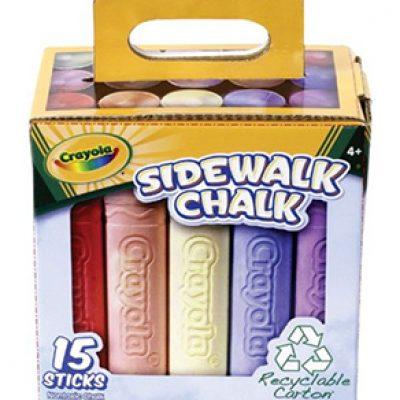 Crayola Sidewalk Chalk 15-Ct Tray Only $5.10 (Reg $15.99)