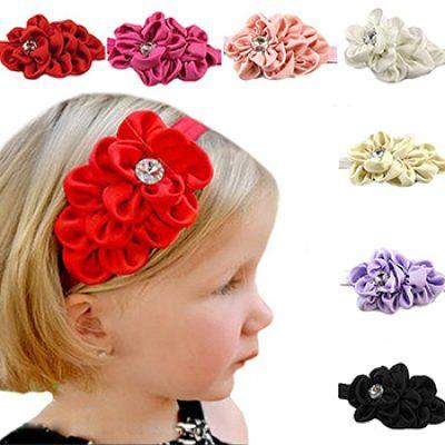 Girl's Chiffon Flower Headband Just $1.99 + Free Shipping