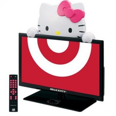 """Hello Kitty 19"""" LED TV Monitor and Stand Just $128.00 (Reg $300)"""