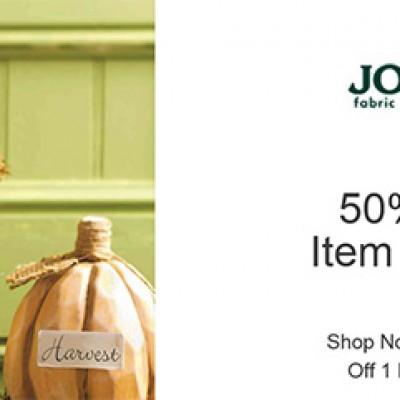 JoAnn Fabrics 50% Off One In-Store Item