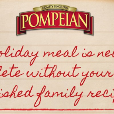 Win A Personalized Bottle Of Pompeian Extra Virgin Olive Oil
