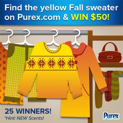Purex Sweepstakes: Enter To Win $50