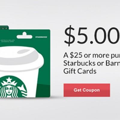 Rite Aid: $5 Off $25 Starbucks Gift Card