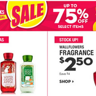 Bath & Body Works: Up To 75% Off Select Items