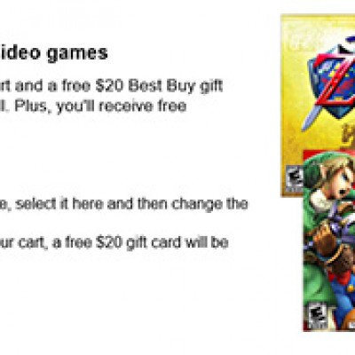 Best Buy: Free $20 Gift Card With Purchase Of Two Select Nintendo 3DS Games