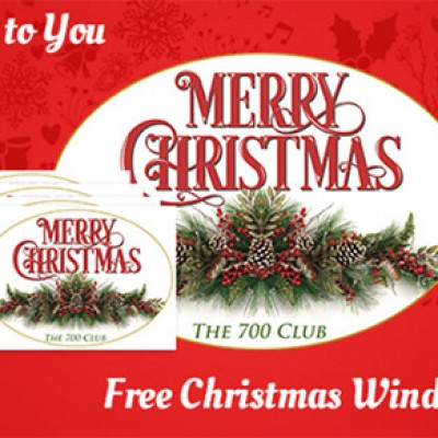 Free Christmas Window Cling