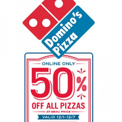 Domino's Online Only: 50% Off Pizzas