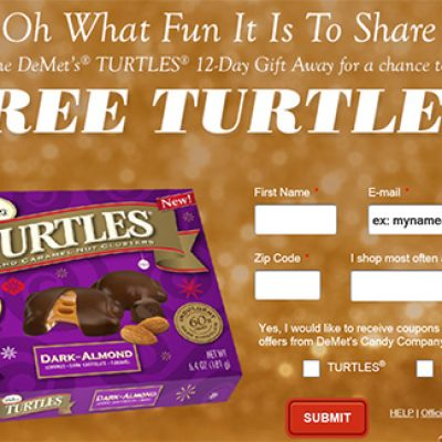 Win DeMets Turtles Chocolates