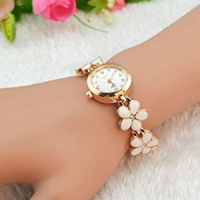 Girl's Rose Gold Daisies Watch Only $4.95 + Free Shipping