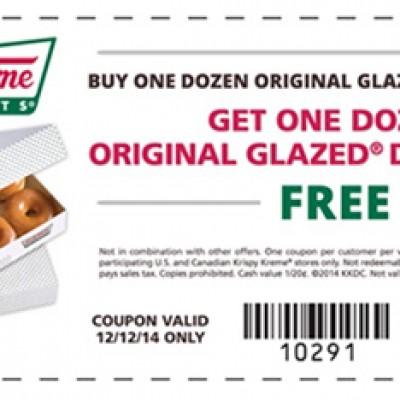 Krispy Kreme: Buy One Get One Free Dozen Doughnuts
