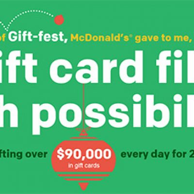 McDonalds: Win One Of $90,000 In Gift Cards Every Day