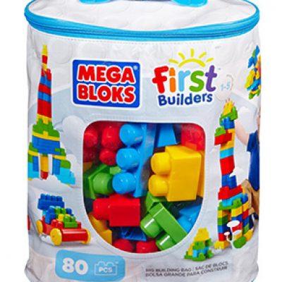 Mega Bloks First Builders Big Building Bag, 80-Piece Only $14.88 (Reg $24.99)